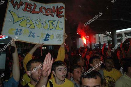 Darius Vassell receives hero's welcome as he joins Turkish side Ankaragucu, 3000 fans mob him.