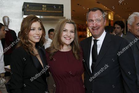 Jessica Biel, Krista Smith and Edward Menicheschi