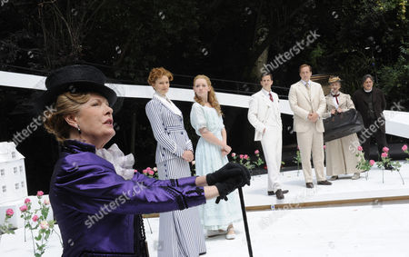 'The Importance of Being Earnest'  - Susan Wooldridge (Lady Bracknell), Jo Herbert (Gwendolen), Lucy Briggs Owen (Cecily), Dominic Tighe (Algernon), Ryan Kiggell (John), Julie Legrand (Miss Prism) and Richard O'Callaghan (Reverend Chasuble)