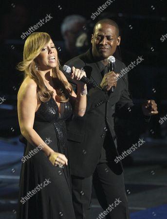Stock Image of Mariah Carey and Trey Lorenz