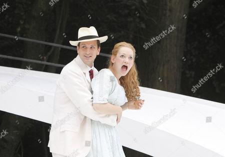Ryan Kiggell (John Worthing), Lucy Briggs Owen (Cecily Cardew)