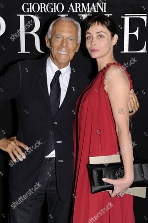 Giorgio Armani and Emanuelle Beart