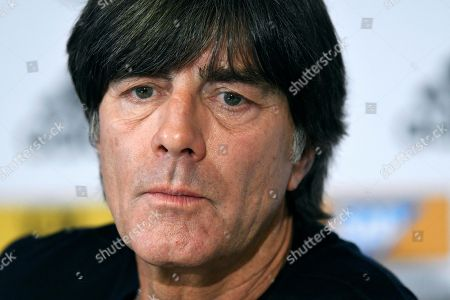 Press conference with national coach Joachim Jogi Loew in front of the friendly match against Spain