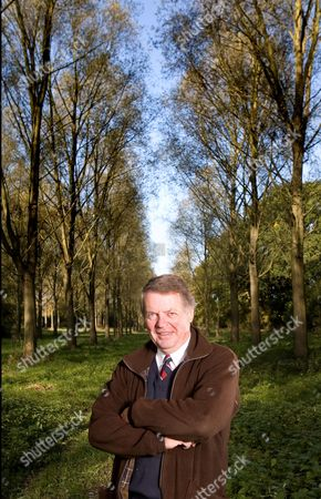 Stock Photo of Nicholas Wright, father of Oliver in their willow copse.