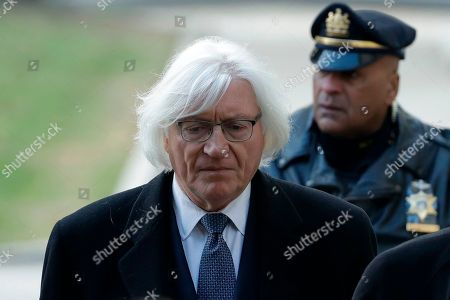 Attorney Tom Mesereau arrives for Bill Cosby's sexual assault trial, at the Montgomery County Courthouse in Norristown, Pa
