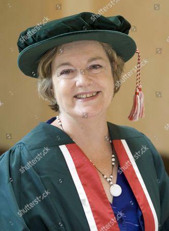 Rachel Lomax receiving an Honorary Fellowship from Swansea Metropolitan University