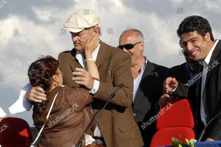 Bill Murray and President of province Stefania Pezzopane