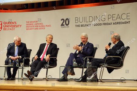 Bill Clinton, Tony Blair and George J. Mitchell