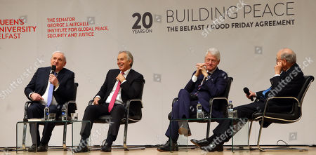 Bill Clinton, Tony Blair and George J. Mitchell