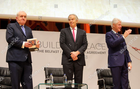 Bertie Ahern, Tony Blair and Bill Clinton