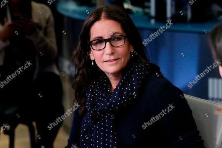 Make-up artist Bobbi Brown is interviewed on Cheddar, on the floor of the New York Stock Exchange