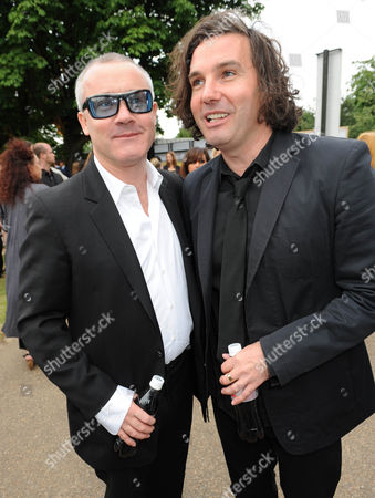 Stock Picture of Damien Hirst and Antony Genn