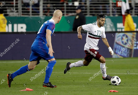 Mexico's Jesus Manuel Corona during the first half of an international friendly soccer match, in Santa Clara, Calif