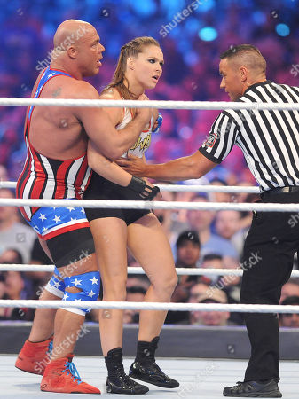 Stock Image of Ronda Rousey and Kurt Angle