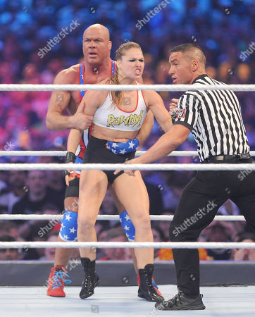Editorial image of Wrestlemania 34 at the Mercedes-Benz Superdome, New Orleans, USA - 08 Apr 2018