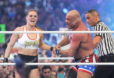 Stock Picture of Ronda Rousey and Kurt Angle
