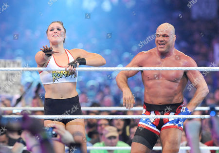 Editorial picture of Wrestlemania 34 at the Mercedes-Benz Superdome, New Orleans, USA - 08 Apr 2018