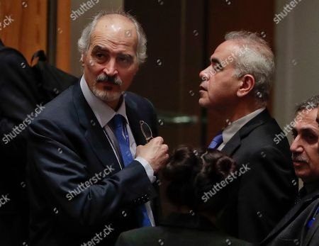 Bashar Ja'afari, Bashar Jaafari. Syrian Ambassador to the United Nations Bashar Ja'afari, left, prepares to leave the Security Council chambers at the end of a meeting, at U.N. headquarters
