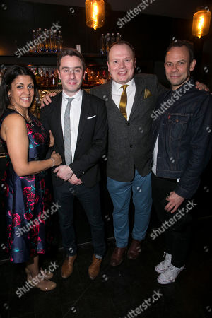 Stephanie Street (Diana Ingram), James Graham (Author), Gavin Spokes (Charles Ingram) and Keir Charles (Chris Tarrant)