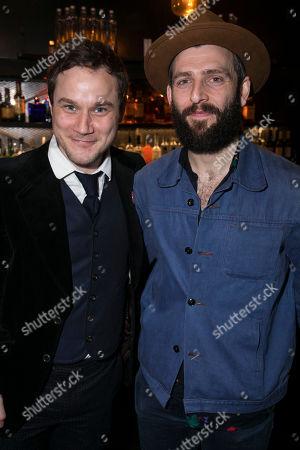 Stock Image of Henry Pettigrew (Adrian Pollock) and Nicholas Karimi