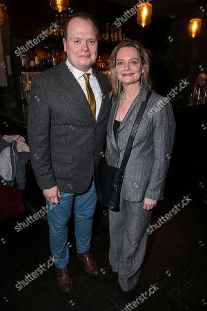 Gavin Spokes (Charles Ingram) and Sarah Woodward (Sonia Woodley QC)