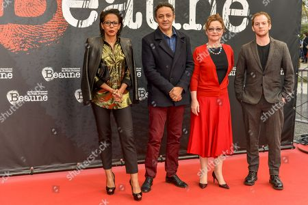 Stock Photo of Audrey Pulvar, Chad Chenouga, Catherine Frot, Malik Zidi