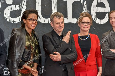 Stock Image of Audrey Pulvar, Lucas Belvaux, Catherine Frot
