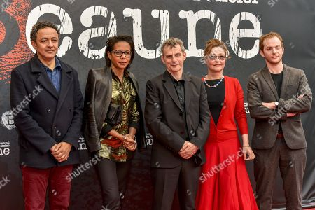 Stock Picture of Chad Chenouga, Audrey Pulvar, Lucas Belvaux, Catherine Frot, Malik Zidi