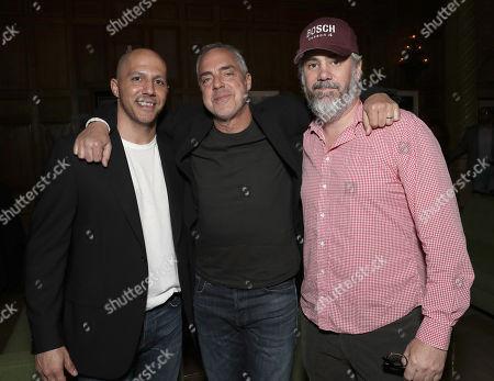 Stock Image of Producer Tom Bernardo, Titus Welliver and Executive Producer Henrik Bastin