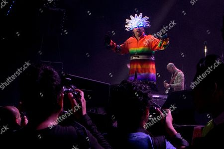 Stock Photo of Jason Kay, lead singer of the British Band Jamiroquai, performs in concert in Mexico City