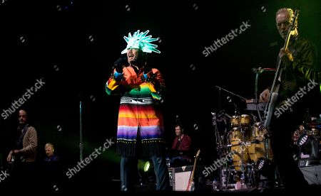 Jason Kay, lead singer of the British Band Jamiroquai, performs in concert in Mexico City