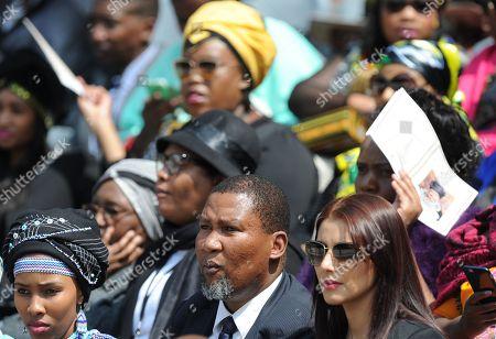 Mandla Mandela (C) grandson of former South African president Nelson Mandela attends the memorial service of Winnie Madikizela-Mandela at the Orlando stadium in Soweto, South Africa 11 April 2018. Winnie Mandela, former wife of Nelson Madela and anti-apartheid activist, passed away in a Johannesburg hospital on 02 April 2018 at age 81.