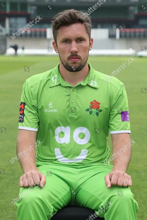 Simon Kerrigan during the Lancashire County Cricket Club Media Day at the Emirates, Old Trafford, Manchester. Picture by George Franks