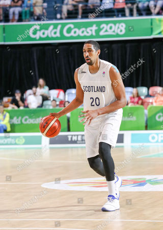 Kieron Achara of Scotland during the Mens Preliminary Round Pool B Basketball, Scotland v Cameroon, of the XXI Commonwealth Games at the Townsville Entertainment Centre, Townsville, Australia, 07 April 2018.