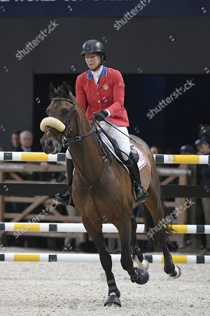 Elizabeth Madden riding 'Breitling LS' during the FEI World Cup