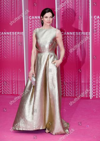 Dutch actress and singer Anna Drijver arrives at the Closing Awards Ceremony of the 1st Cannes International Series Festival, in Cannes, 11 April 2018. The festival runs from 04 to 11 April.