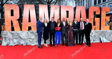 Editorial image of 'Rampage' film premiere, London, UK - 11 Apr 2018