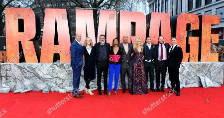 Editorial photo of 'Rampage' film premiere, London, UK - 11 Apr 2018