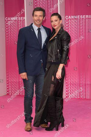Stock Image of Franck Semonin and his wife Helene