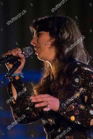 Stock Image of Public Service Broadcasting - guest vocalist Lisa Jen Brown