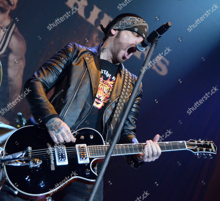 Lead singer Ricky Warwick of the band Black Star Riders performs at the Resch Center in Green Bay, Wisconsin