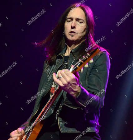 Stock Photo of Guitarist Damon Johnson of the band Black Star Riders performs at the Resch Center in Green Bay, Wisconsin