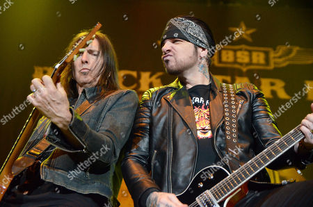 Lead singer Ricky Warwick and guitarist Damon Johnson of the band Black Star Riders performs at the Resch Center in Green Bay, Wisconsin