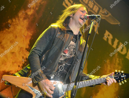 Guitarist Damon Johnson of the band Black Star Riders performs at the Resch Center in Green Bay, Wisconsin