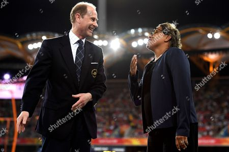 Prince Edward and Cathy Freeman
