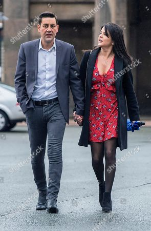 Stock Picture of Andy Woodward . Former Footballer And Bennell Abuse Victim Andy Woodward With Partner Zelda Worthington Speaks Outside Chester Crown Court.- Barry Bennell Video Appearance At Chester Crown Court Cheshire.  - 22/3/14.