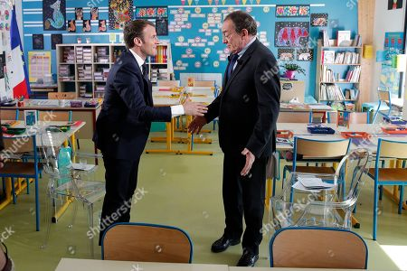 Emmanuel Macron and Jean-Pierre Pernaut