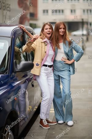 Stock Image of Monica Ainley and Millie Mackintosh wearing Polo Ralph Lauren