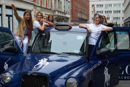 Stock Picture of Monica Ainley, Camille Charriere, Gemma Sort Chilvers, Millie Mackintosh and Irina Lakicevic. wearing Polo Ralph Lauren