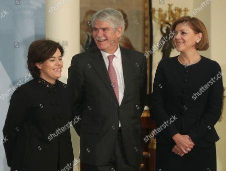 Soraya Saez de Santamaria, Alfonso Dastis and Maria Dolores de Cospedal